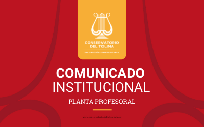 Comunicado creación de la planta profesoral