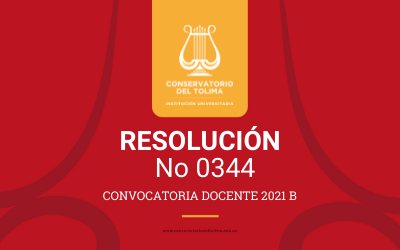 Resolución No. 0344 Convocatoria Publica Docente