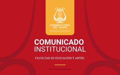 Comunicado Disposiciones para el desarrollo del 2 Semestre Académico 2021