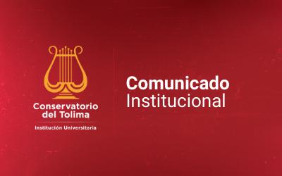 Comunicado Institucional